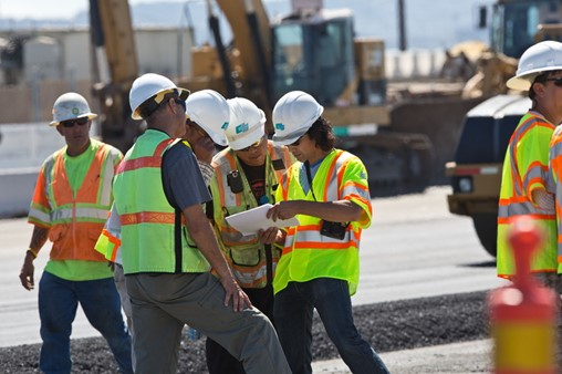 California Department of Transportation workers