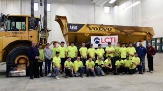Volvo Career Tech School Receives Gold Rush Haul Truck