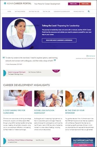 ASHA Career Portal Home Page