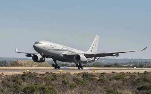 The DGA received France's second A330 Phénix MRTT and first medical evacuation version three months early at Istres airbase on 2 July. (Armée de l'Air)