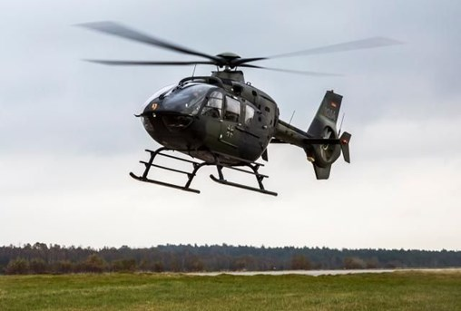 An EC135 training helicopter of the International Helicopter Training Centre in Bückeburg in Germany crashed in the closeby Hameln-Pyrmont district on 1 July 2019. (Bundeswehr/Mario Bähr)