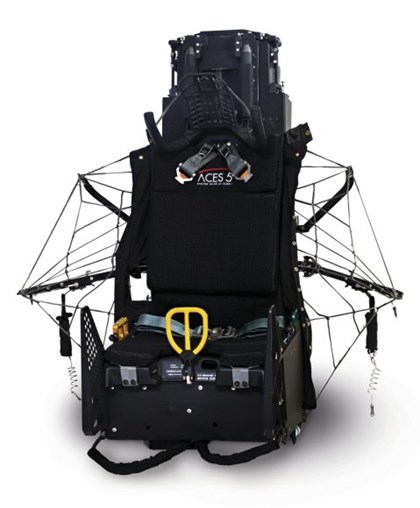 The US Air Force expects to sole source a contract to Collins Aerospace to procure its ACES V ejection seat. (Collins Aerospace)