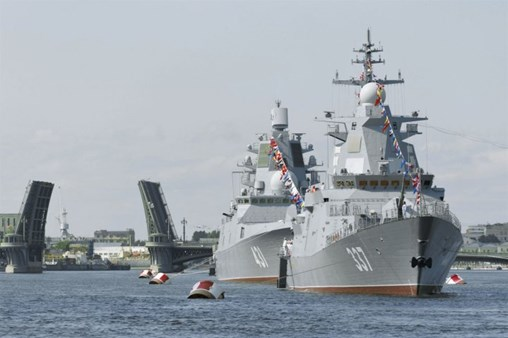 First-In-Class Gremyashchiy Corvette Debuts During Russia's Navy Day