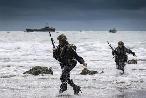 Exercise 'Commando Warrior', which was undertaken in March, involved members of Alpha Company 40 Commando Royal Marines and 1 Assault Group Royal Marines. The exercise demonstrated the utility of autonomous systems in support of RM operations. (Royal Navy)