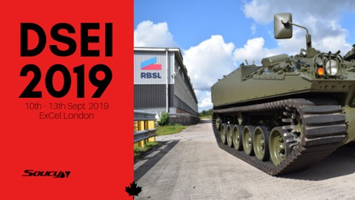 DSEI 2019 - Soucy CRT system showcased on a Warrior