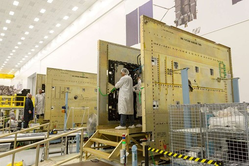 Harris Corporation delivered the seventh GPS III navigation payload to Lockheed Martin.