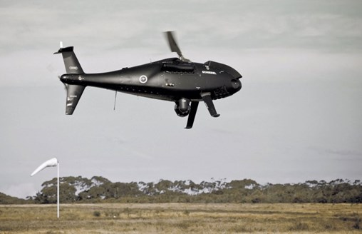 The RTN has selected the Schiebel Camcopter S-100 UAS to provide unmanned ISR capabilities over land and sea. (Schiebel)