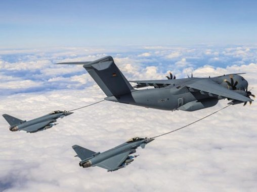 The A400M has been certified to refuel German Tornados and German and Spanish Eurofighters. (Bundeswehr/Stefan Petersen)