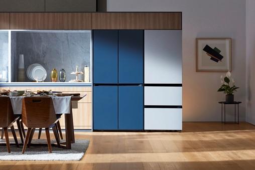 BESPOKE refrigerator (Satin Navy - Satin Gray)