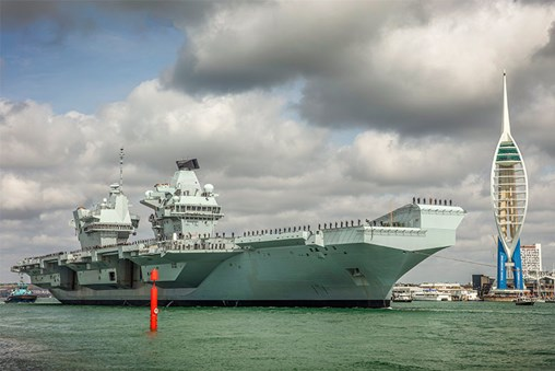 HMS Queen Elizabeth Deploys to US Coast for More F-35B Trails