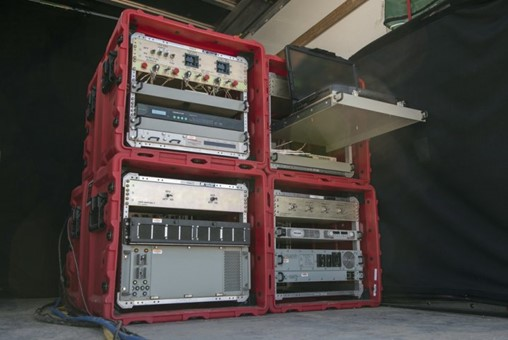 Raytheon plans to perform its second demonstration of its Joint Precision Approach Landing System (JPALS) expeditionary version in late 2019/early 2020. Pictured is the system in transit cases. (Raytheon)