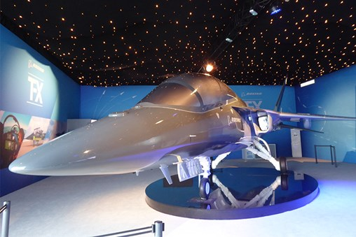 Boeing Pitches T-X at Le Bourget