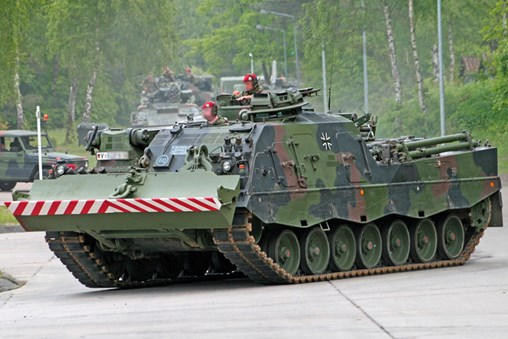 Rheinmetall to Retrofit Germany's Fleet of Bergepanzer 3 Armoured Recovery Vehicles With Battlefield Recovery Equipment