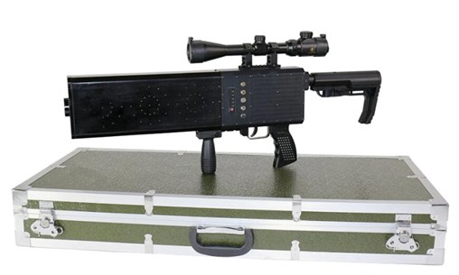 The DZ-02 Pro Portable Jammer Gun is designed to defeat small UAVs at distances of up to 1 km. (SZMID)