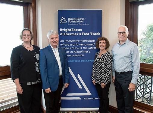 From left, Drs. Bovenkamp, Steinbusch, Lemere, and LaFerla