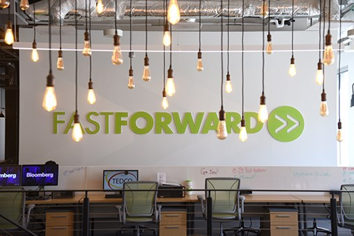 Johns Hopkins University opened FastForward in 2017. (The Daly Record / Maximilian Franz)