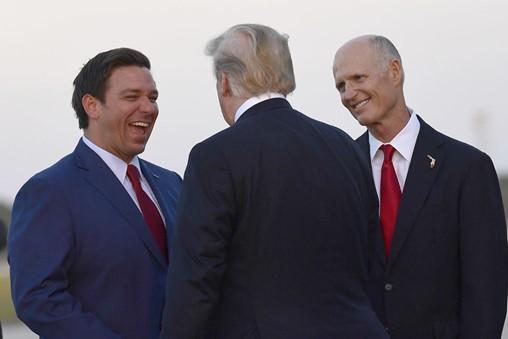 'Lock Him up!': Florida Trump Crowd Bashes Opponents of DeSantis, Scott