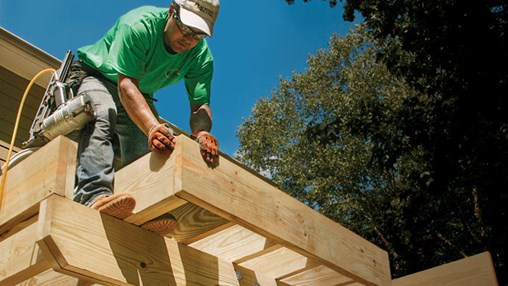 how to build a strong deck frame