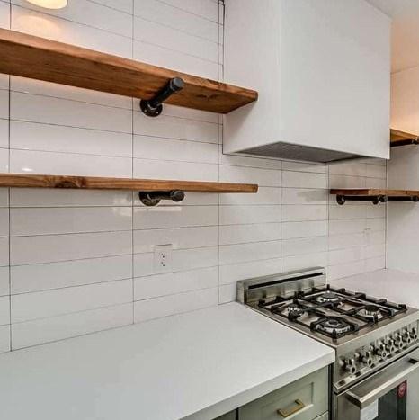 White Ceramic Glossy Subway Tile Kitchen Backsplash From Arizona Tile