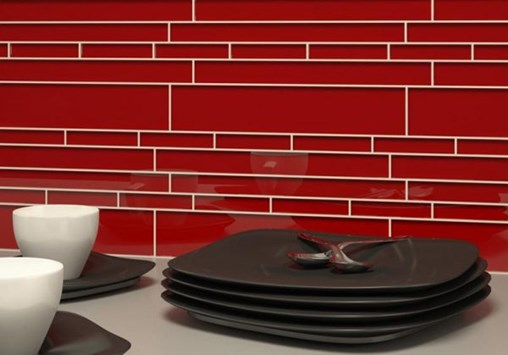 10-1-19 RTA3-Cristezza Club Glass Tile in Ruby Red