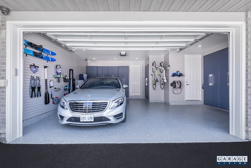 curb appeal and home value white car in garage