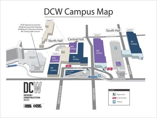 IBS 2020 - Design & Construction Week Campus Map - Las Vegas Convention Center Map