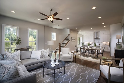 TPG's Highland model townhome interior.