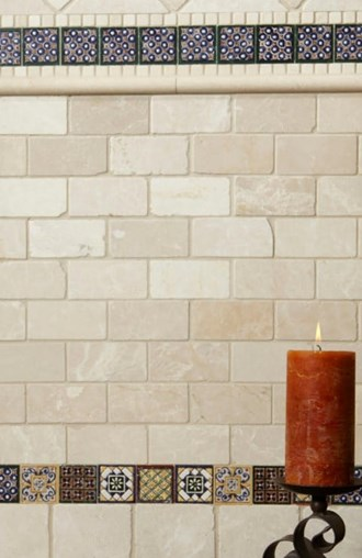 Isabel Deco Decorative Wall Tile from the Seville Collection at Arizona Tile