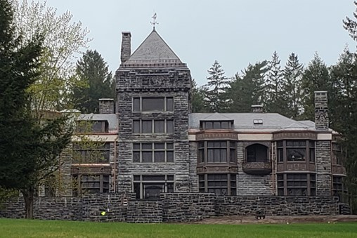 Genuine Vermont slate adorns the roof of the Yaddo Mansion.