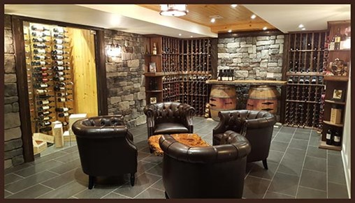 Glass-enclosed wine cellar ideas