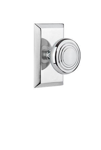 Studio short plate with Deco knob in Bright Chrome