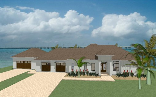 Florida beach house rendered in Chief Architect