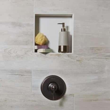 Club White Rectified Body Porcelain Bathroom Wall Tile from Arizona Tile