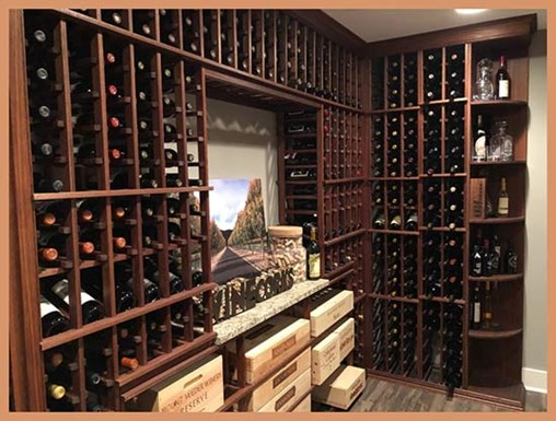 Working With Stains and Finishes in Your Wine Cellar