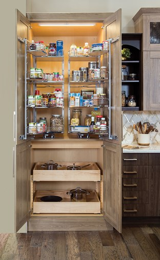 pantry pullout kit with sliding shelves