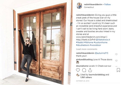 Simpson Exterior French Doors posted by @redwhiteanddenim on Instagram