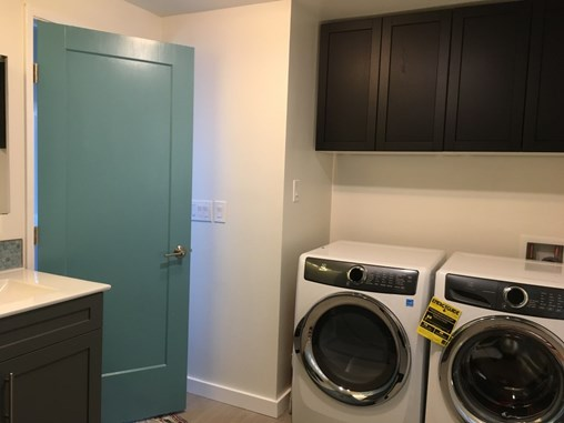 Remodeled laundry/bathroom.