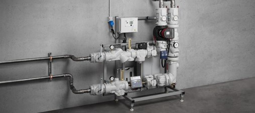 The new ?Megapress S? piping system in 3/8 to 2 inch sizes is ideal for use in local and district heating systems as from the building entry point. (Photo: Viega)
