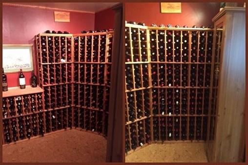 Tons of wine bottle storage!