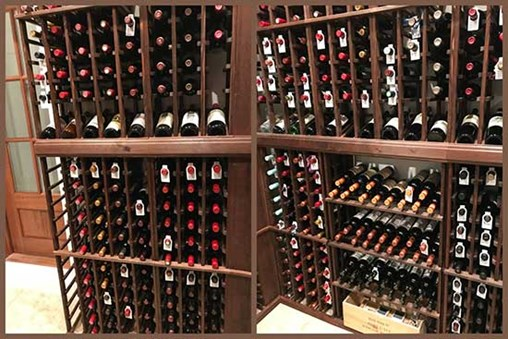 Lots of bottle storage space