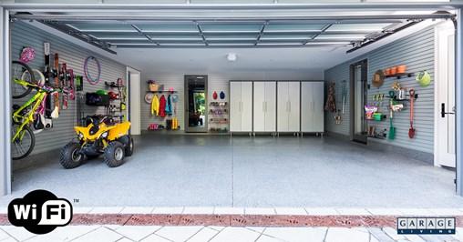 wifi in your garage, open garage