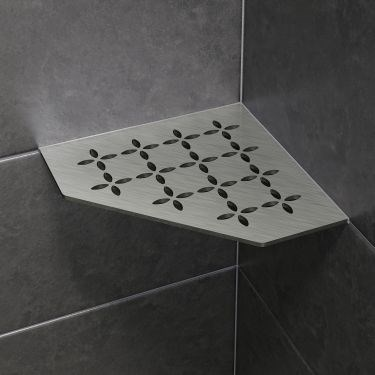 Brushed Stainless Steel Shower Shelves Enhance Design and Performance