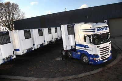 Davies International refrigerated Truck Fleet with Vector units