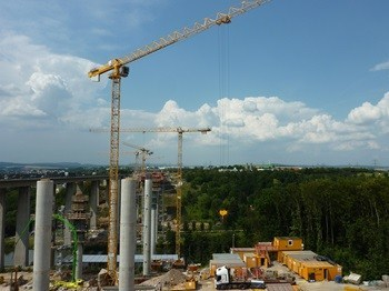 Six Potain cranes help to build infrastructure in Germany