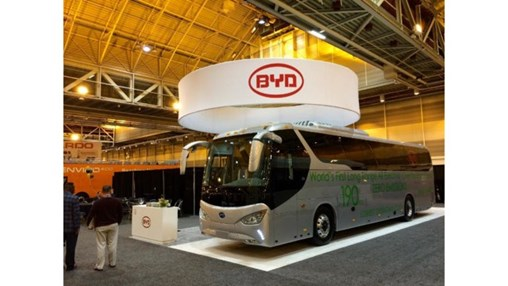 BYD launches 100% battery electric over the road coach bus
