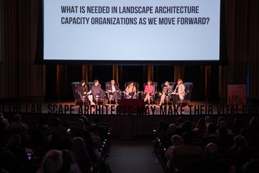 A panel at the Landscape Architecture Foundation summit
