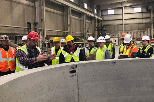 UW-Stout Structural Systems Class Explores Concrete Manufacturing at County Materials