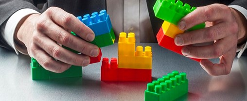 real estate in building with kids bricks