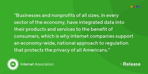 Internet Association Proposes Privacy Principles for a Modern National Regulatory Framework