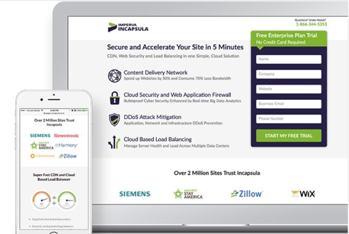 cyber security marketing strategies - Landing Page